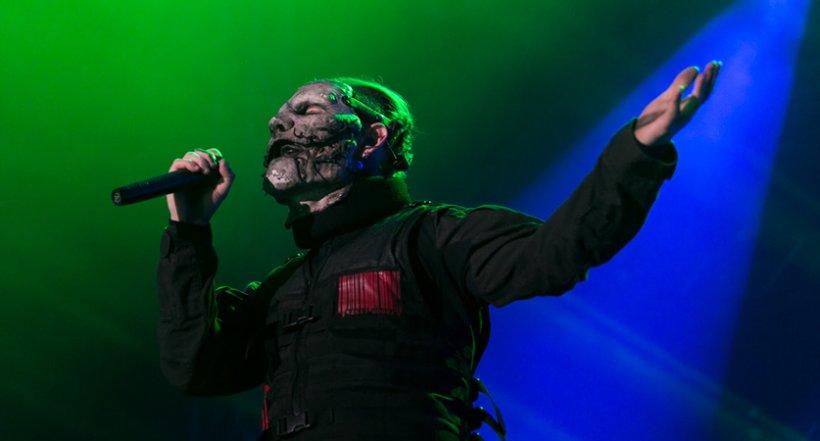 Corey Taylor de Slipknot en su paso por Colombia. Foto: David Micolta