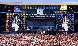 Escenario del Wembley Stadium de Londres el 13 de julio de 1985
