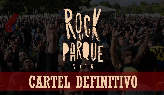 Con el anuncio de 10 agrupaciones, se completa el cartel de Rock al Parque 2016