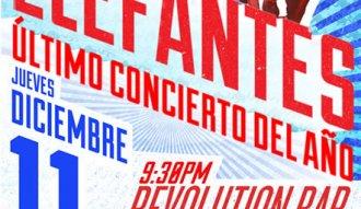 Este jueves último concierto de Los Elefantes