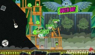 Imagen de la versión de Angry Birds con Green Day