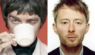 Noel Gallagher y Thom Yorke de Oasis