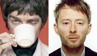 Noel Gallagher y Thom Yorke de Oasis