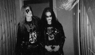 Dead y Euronymous, integrantes de Mayem