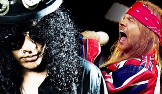 Slash y Axl Rose durante el use Your Illusion World Tour