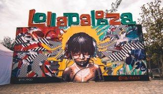 Mural en Lollapalooza Chile 2019