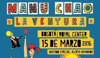 Manu Chao y La Ventura se presentarán en Bogotá el 15 de marzo de 2016