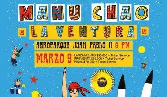 Manu Chao y La Ventura se presentará en Medellín el 9 de marzo de 2016