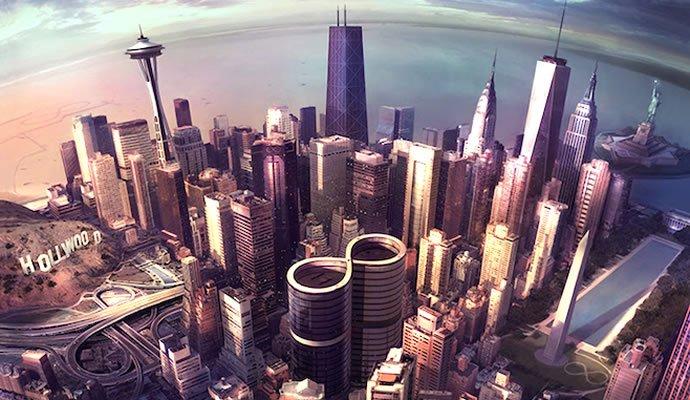 """Arte del nuevo disco de Foo Fighters """"Sonic Highways"""""""