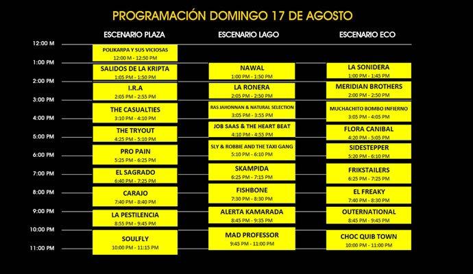 Aquí la programación de la segunda jornada de Rock al Parque 2014