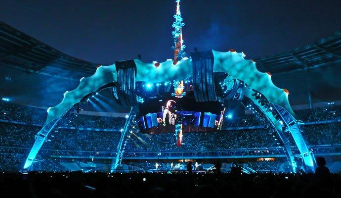 Escenario de la gira 360 de U2