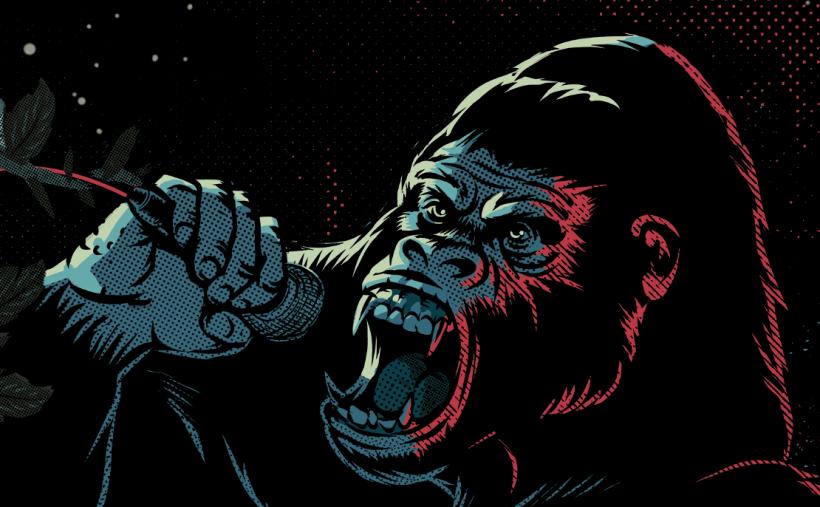 Un gorila es el protagonista en el nuevo afiche de Rock al Parque 2019