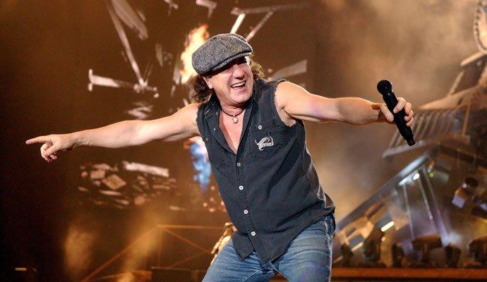 Brian Johnson vocalista de AC/DC