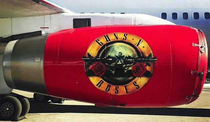 Avión Boeing 757-200 personalizado. Foto: Guns N' Roses
