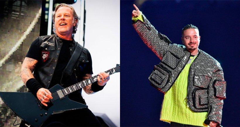 James Hetfield vocalista de Metallica y J Balvin