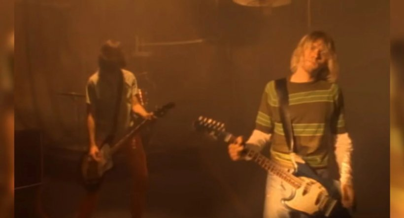 Captura de video de Smells Like Teen Spirit de Nirvana
