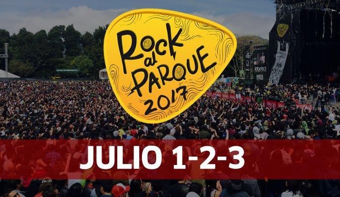 Rock al Parque se realizará del 1 al 3 de julio de 2017