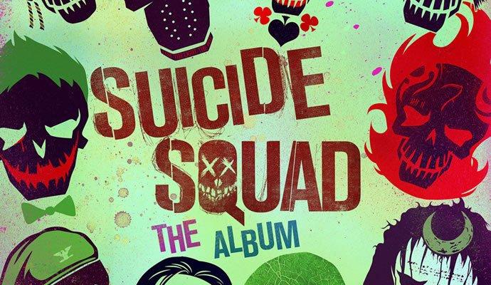 "Carátula del disco ""Suicide Squad: The Album"""