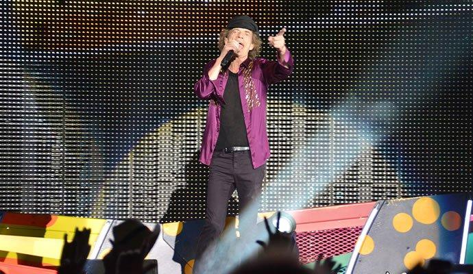 Mick Jagger durante su concierto en Cuba. Foto: Felipe Rocha - Orbitarock.com