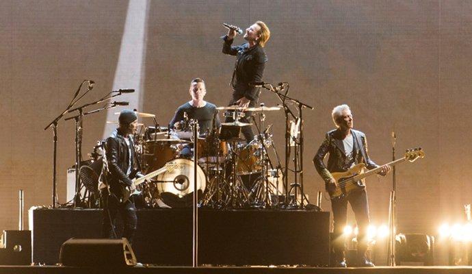 U2 en su concierto en Bogotá. Foto: David Micolta